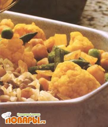 Рецепт Овощи в соусе карри