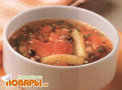 Рецепт Суп грибной с тыквой