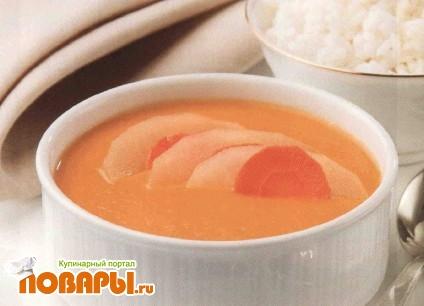 Рецепт Суп-пюре овощной с яблоками