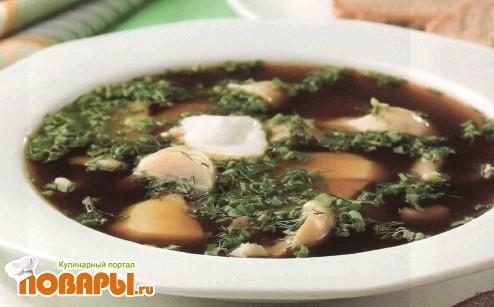 Рецепт Окрошка с солеными грибами