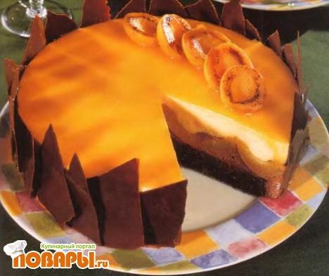 Рецепт Шоколадно-абрикосовый торт