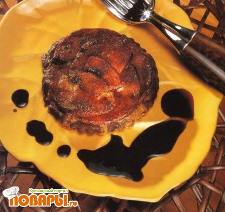 Рецепт Тартинки с камамбером и яблоками в шоколаде