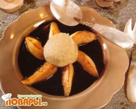 Рецепт Груши в щоколадной подливке с мороженым