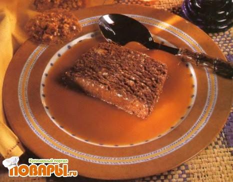 Рецепт Замороженная шоколадная нуга с корицей и кунжутным семенем