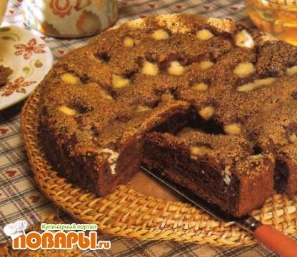 Рецепт Сдобный пирог с какао и коричневым сахаром