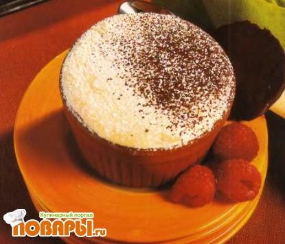 Рецепт Безе с малиной и шоколадным кремом