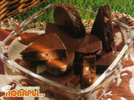 Рецепт Шоколадное печенье с орехами пекан