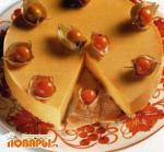 Десерт из тыквы и имбиря