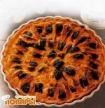 Пирог из яблок и чернослива