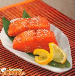Лосось-гриль с соусом терияки
