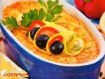 Камбала в суфле из сыра