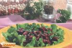 Салат из темной фасоли