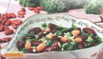 Салат из фасоли с зеленью