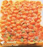 Перевернутая пицца с томатами-черри