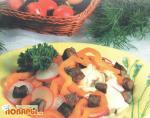 Салат из редиса с печенью