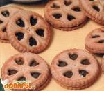 Печенье с начинкой из яблочного мармелада