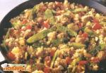 Кисло-сладкие фрикадельки с рисом