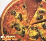 Пирог с начинкой из брокколи и ветчины
