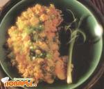 Рис с каштанами и зеленым луком