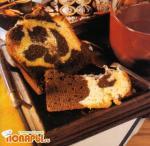 Кекс с мраморным шоколадным рисунком
