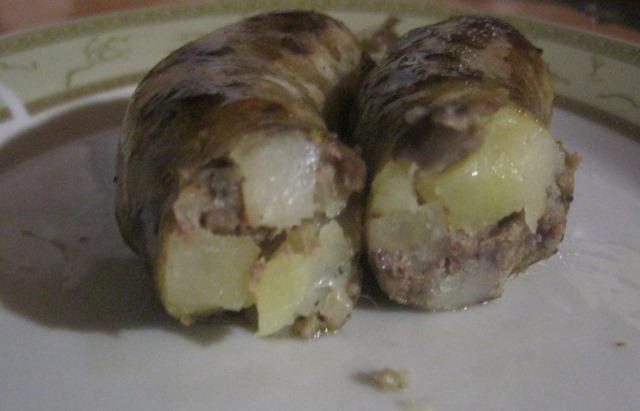 Рецепт Домашние колбаски с картофелем