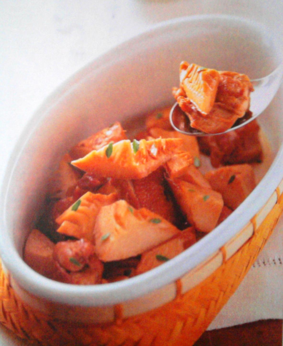 Рецепт Бамбук тушеный с курицей