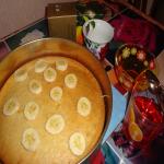 Апельсиновый кекс с орехами и яблоками