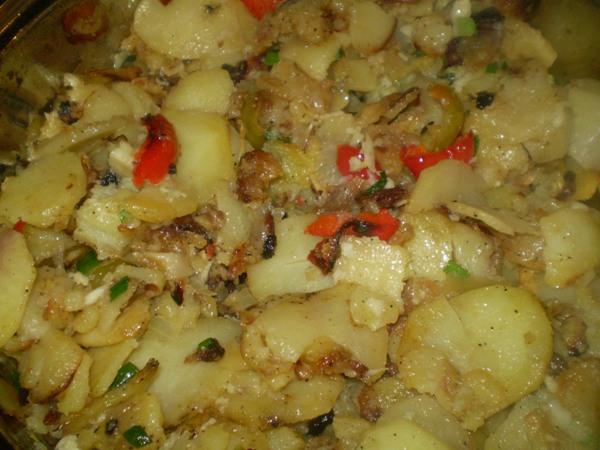 Рецепт Жаренная картошка с овощами
