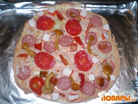 Рецепт Пицца в домашних условиях