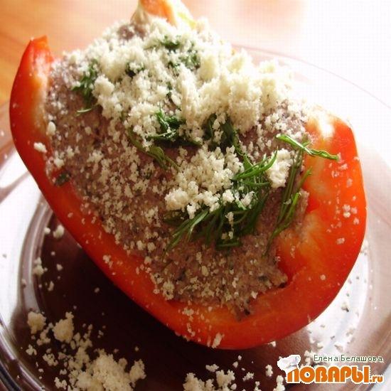 Рецепт Сладкий болгарский перец с сырым паштетом из семян и льняной сыроедческий хлеб