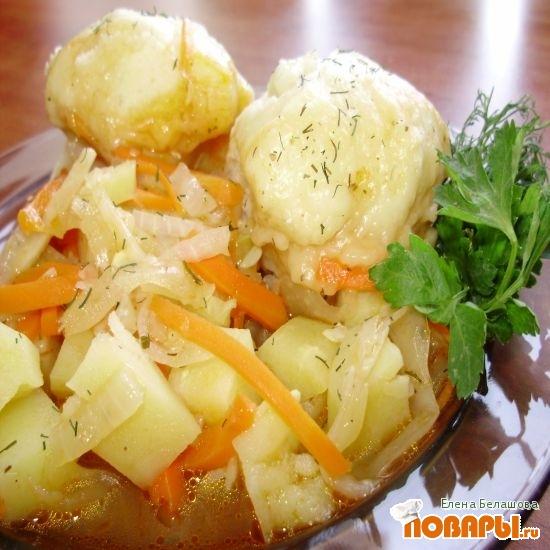 Рецепт «Штруделя» дрожжевые на овощном рагу