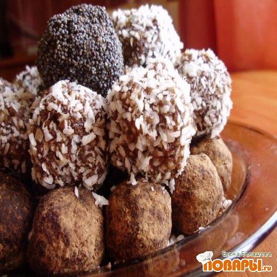 Рецепт Шоколадно-миндальные конфеты