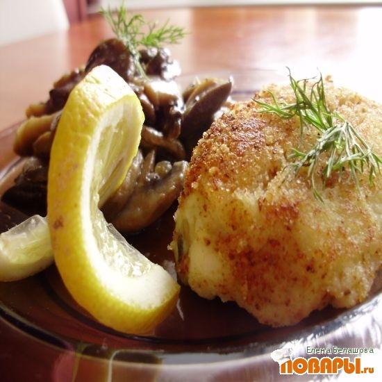 Рецепт Картофельные «котлетки-пирожки» начиненные грибами