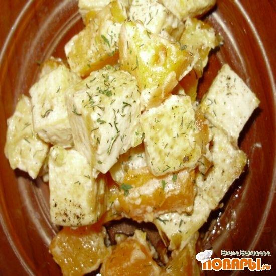 Рецепт Жареный тофу с тыквой