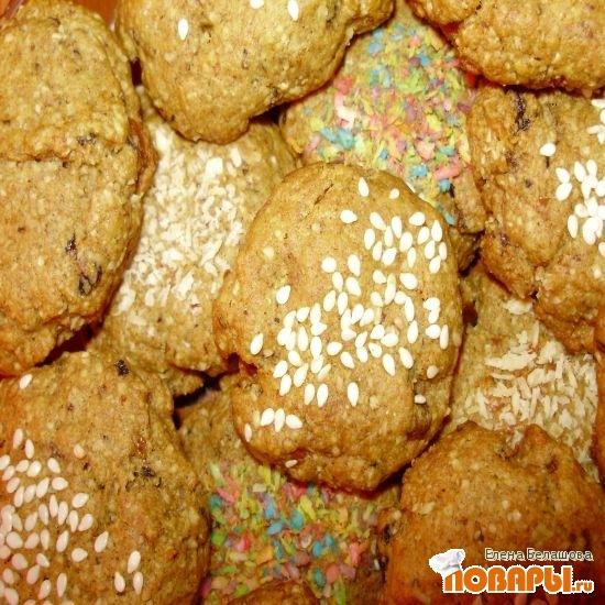 Рецепт Печенье сладкое постное овсяное без сахара