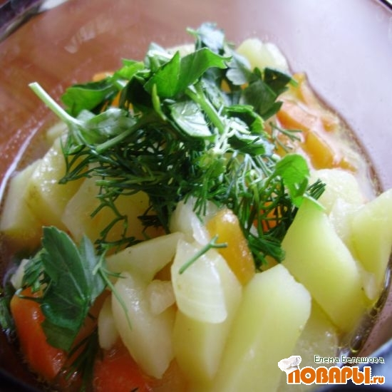 Рецепт Жидкая картошка с морковью и луком