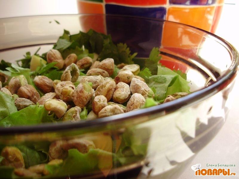 Рецепт Яблочный салат с орехами