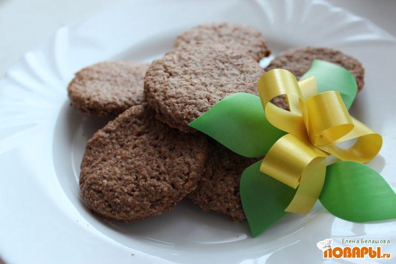 Рецепт Овсяное печенье с корицей, гвоздикой и имбирем