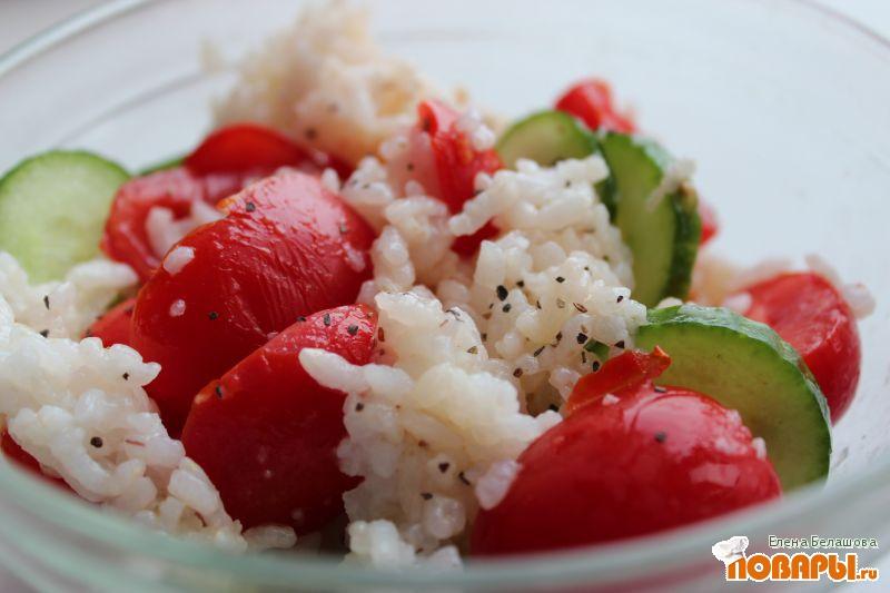 Рецепт Рисовый салат со свежими овощами