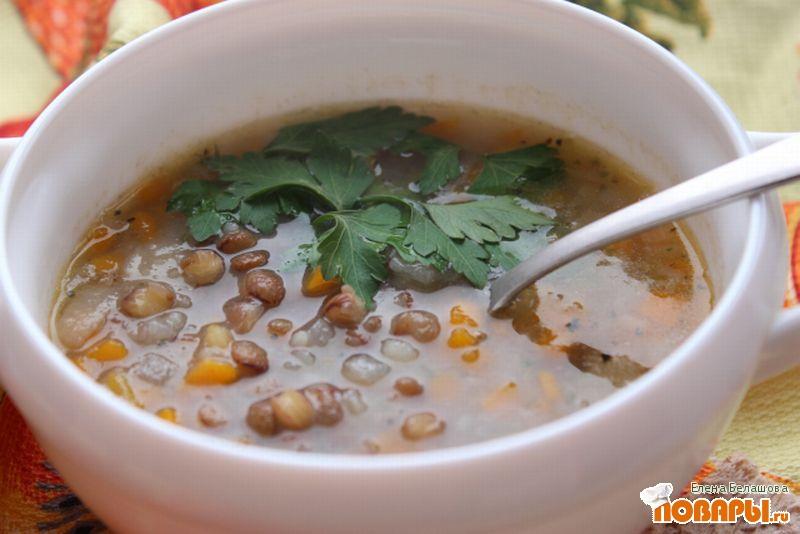 Рецепт Суп из зеленой чечевицы