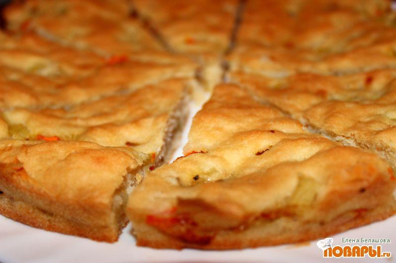 Рецепт Овощной пирог из жидкого теста на рассоле
