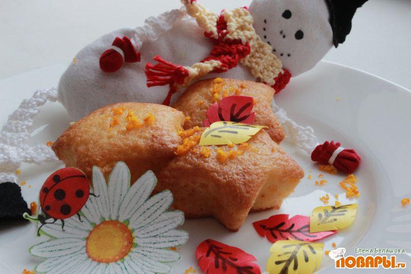 Рецепт Цитрусовые постные кексы с апельсиновым соком и цедрой