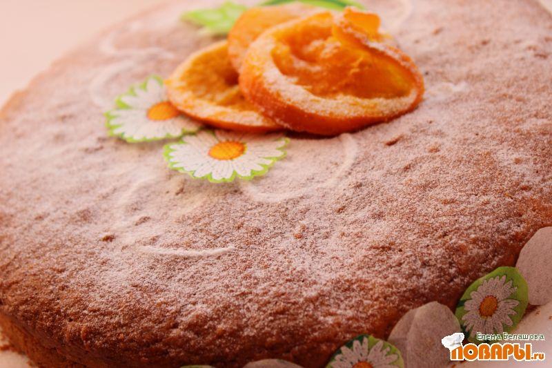 Рецепт Апельсиновый торт с постным кремом и цукатами