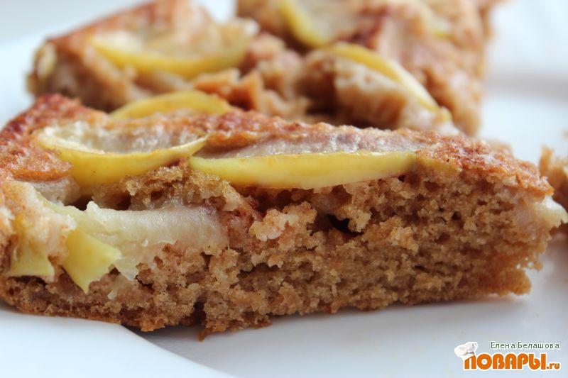 Рецепт Постная шарлотка (или постный яблочный пирог)