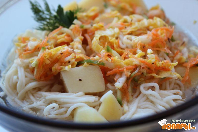 """Рецепт Овощное """"кукси"""" с пекинской капустой"""