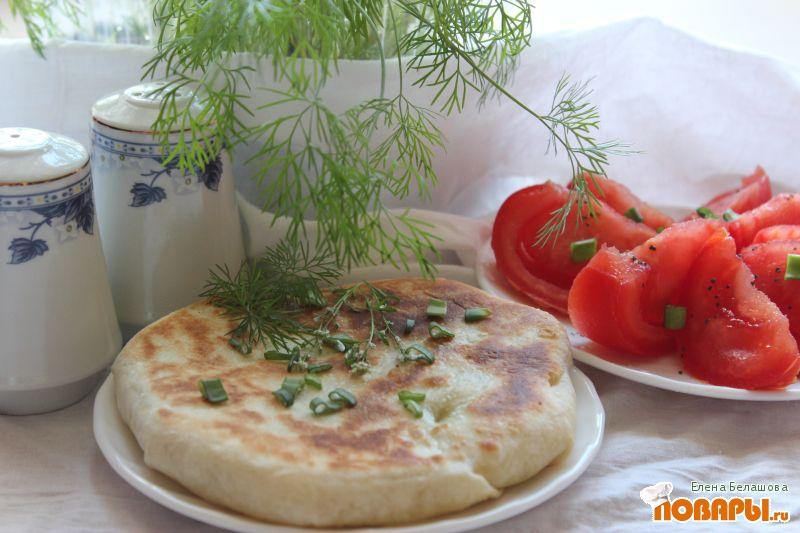 Рецепт Постные лепешки с картофелем и зеленью (молдавские лепешки, плацинды)