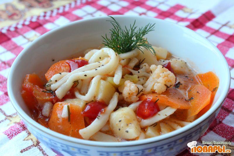 Рецепт Постный лагман (вегетарианский лагман) с цветной капустой
