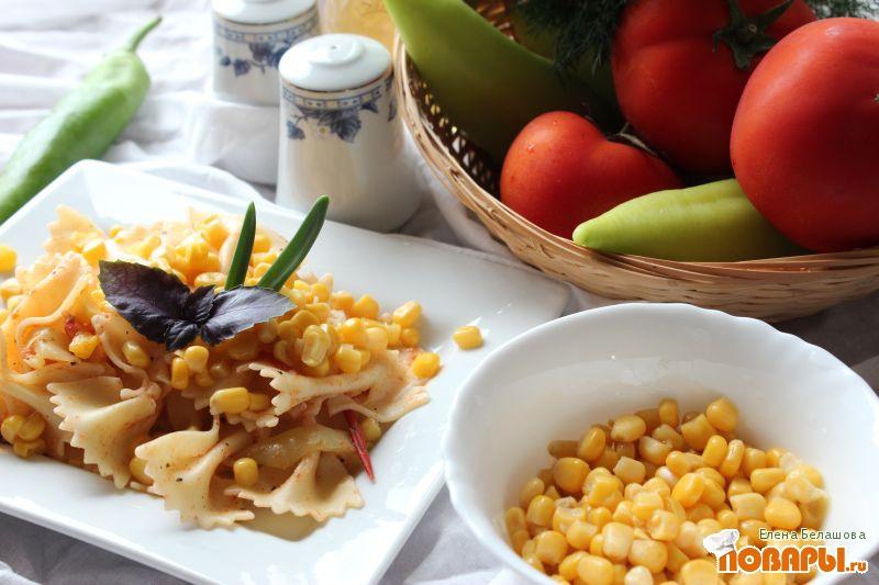 Рецепт Паста с кукурузой