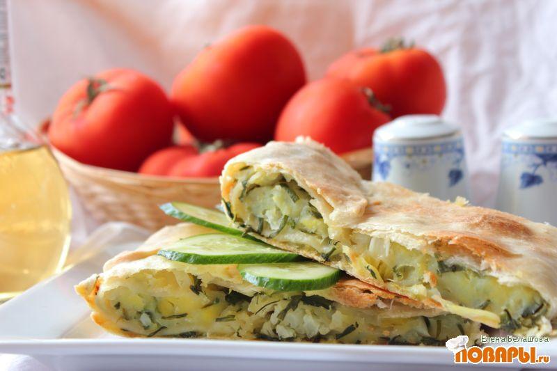 Рецепт Плэнчида с джусаем, картофелем, цветной капустой и плэнчида с гороховой кашей
