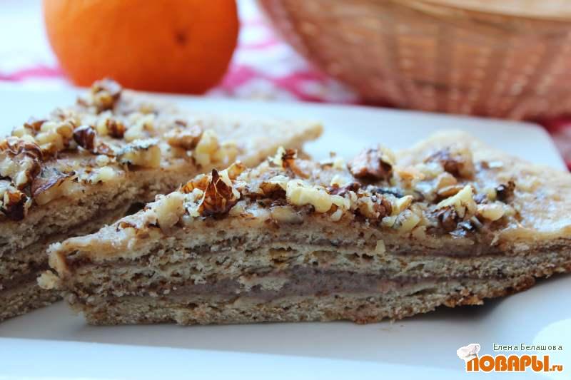 Рецепт Медовый торт без сахара (постный)